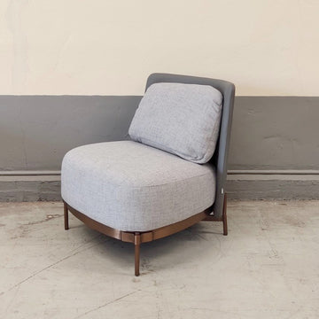 [SA] Maverick Chair Light Grey & Grey Back (Rose Gold Leg)