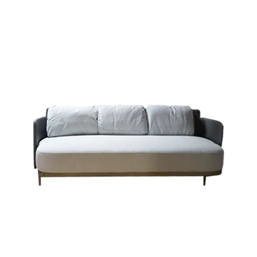 [SA] Memphis Sofa Light Grey & Black Back