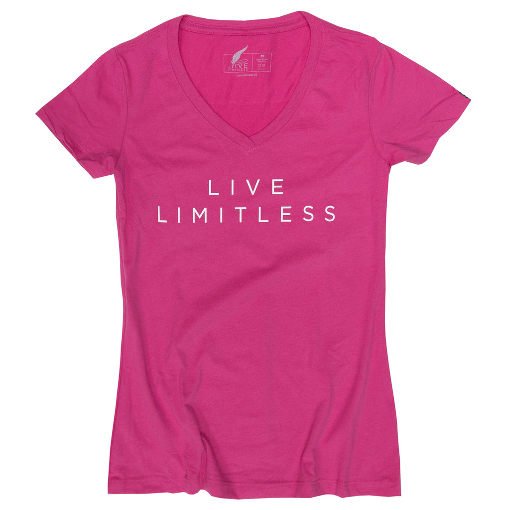 Live Limitless Women's V-Neck (Pink)