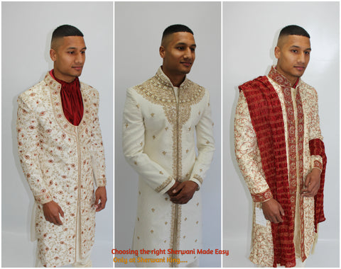 Choosing the right Wedding Sherwani