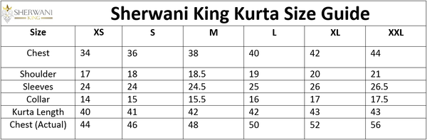 Kurta Sizing File Sherwani King