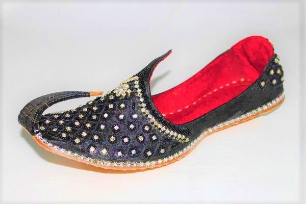 Zarani - Black Mojari Khussa Shoes