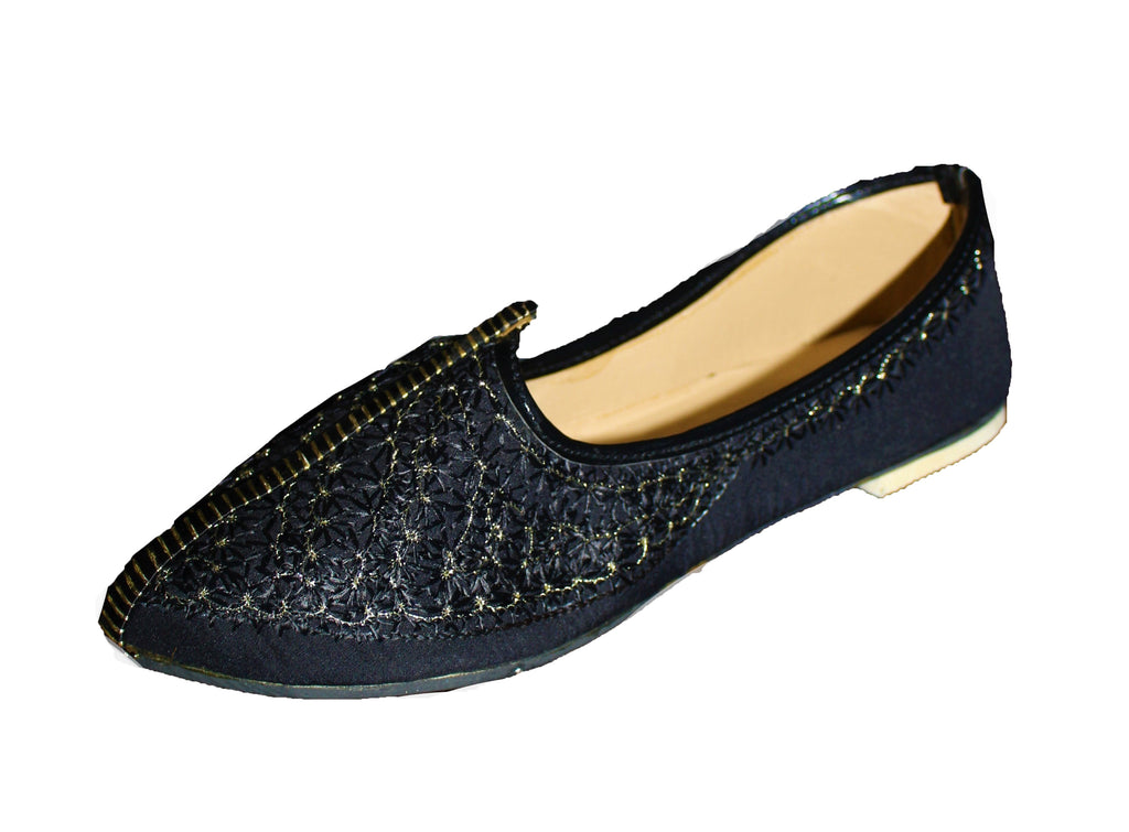 Assam - Black and Gold Mojari Khussa Shoes