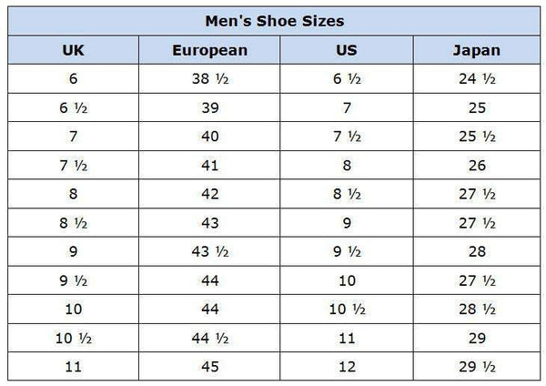 European Vs American Shoe Sizes