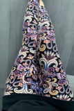 Purple Paisley Boho Print QUEEN SIZE Leggings