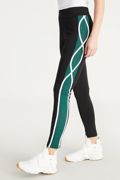 Petite Active Leggings with a side stripe