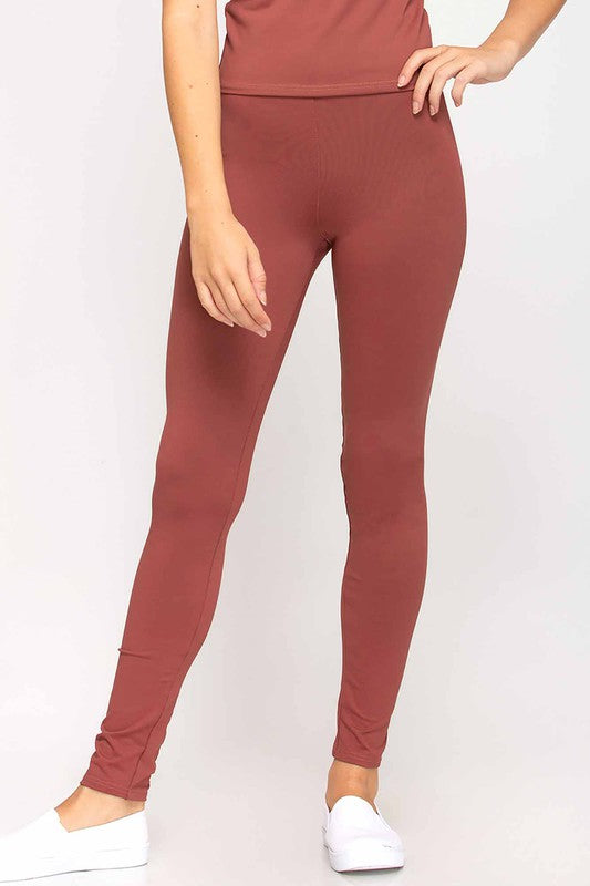 Solid Color FLEECE Queen Size Winter Leggings