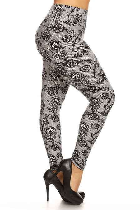 Penguin Christmas  Print QUEEN SIZE Leggings