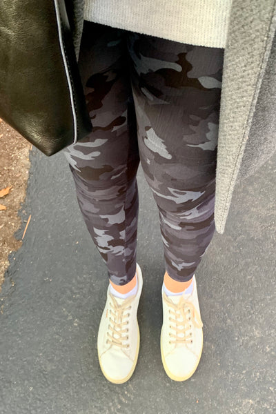 Grey Army Print Leggings