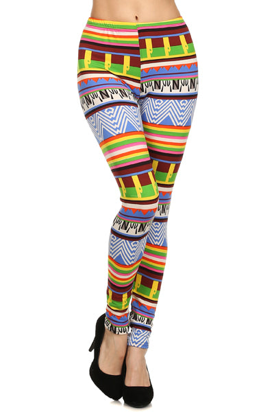 Fleece Printed Leggings