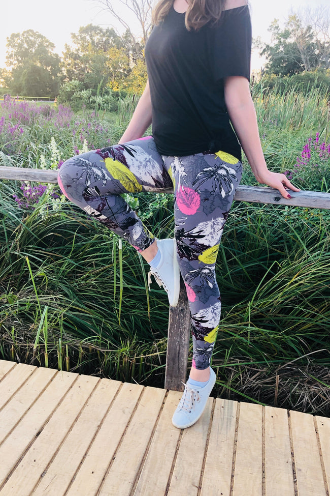 Spring Flower Print Leggings