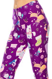 Purple Christmas Print Leggings