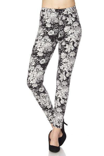 Floral Print QUEEN SIZE Leggings