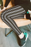 Houndstooth (Grey) Print QUEEN SIZE Leggings