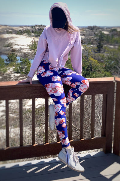 Summer Floral Print Leggings