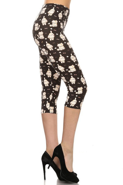 cat buttery Soft Microfiber High Waist Fashion Patterned Celebrity Leggings for Women one size