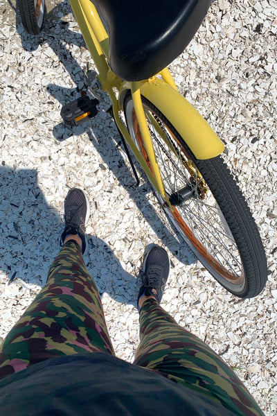 Olive/Pink Army Print Leggings