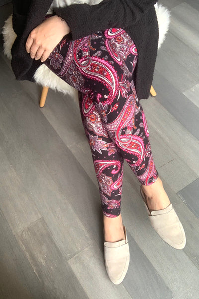 Paisley Boho Print QUEEN SIZE Leggings