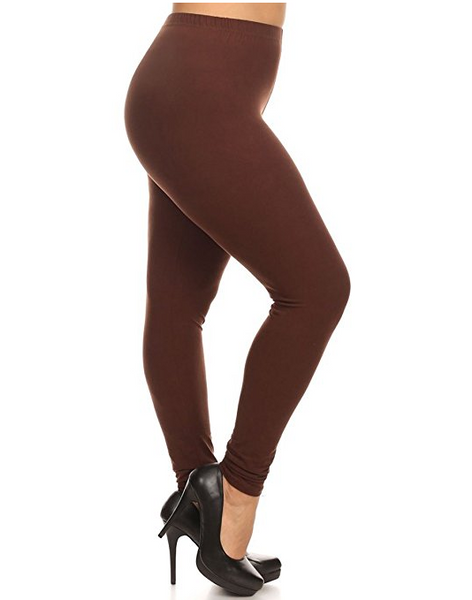 Solid Color Queen Size Leggings
