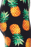 orange pineapple buttery Soft Microfiber High Waist Fashion Patterned Celebrity Leggings for Women one size