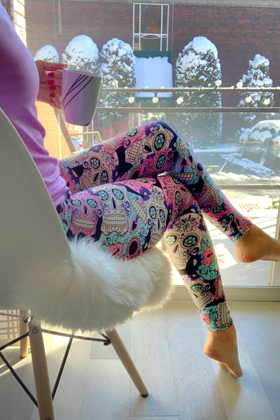 Skull Print QUEEN SIZE Leggings