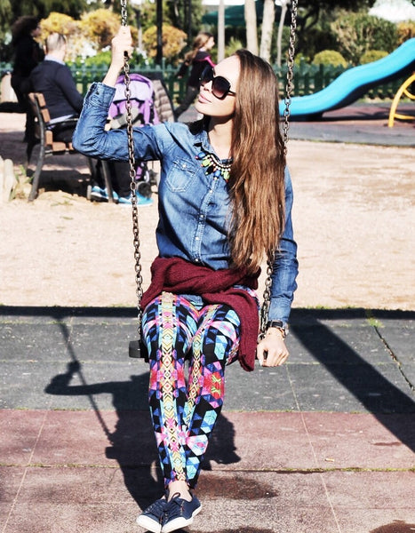 Kaleidoscope Print Leggings
