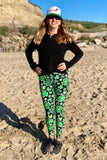 St. Patrick's Day Lucky Clover Print Leggings