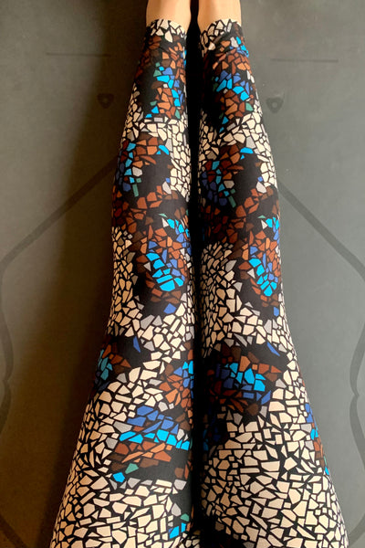 Mosaic Butterfly Print Leggings