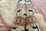 christmas reindeer leggings buttery Soft Microfiber High Waist Fashion Patterned Leggings for Women one size