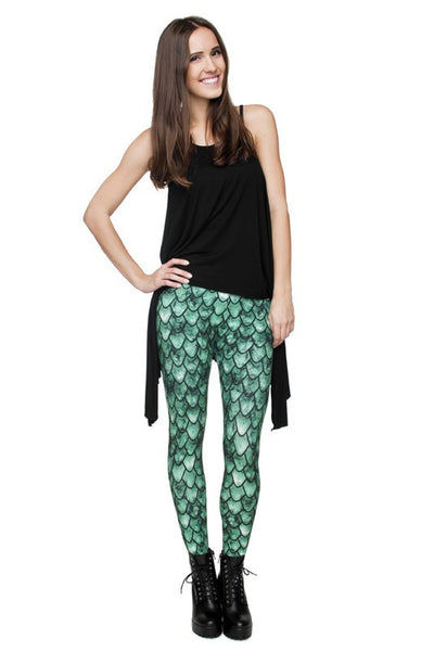 Mermaid Print Leggings