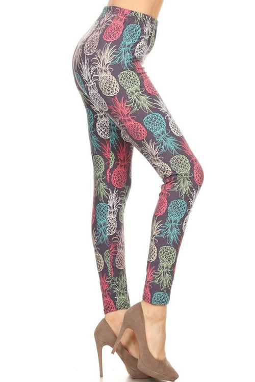 Pastel Pineapple Print QUEEN SIZE Leggings