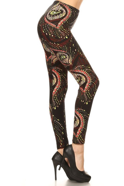 Boho Chic Print Leggings