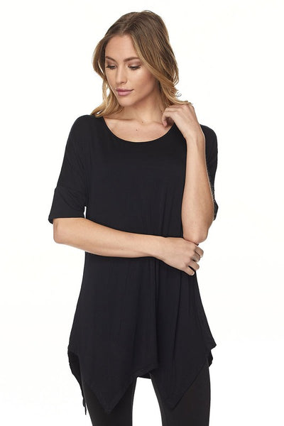Modal Cutout Edge Tunic
