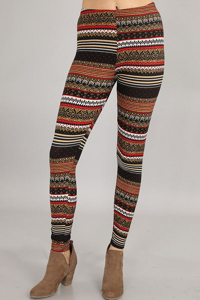 Nordic Fair Isle Print Leggings