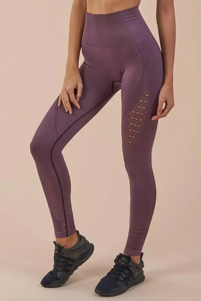 Mesh Seamless Workout Compression Leggings