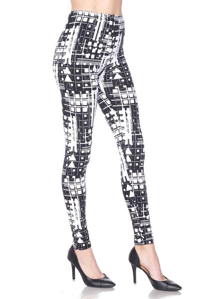 Abstract Print QUEEN SIZE Leggings