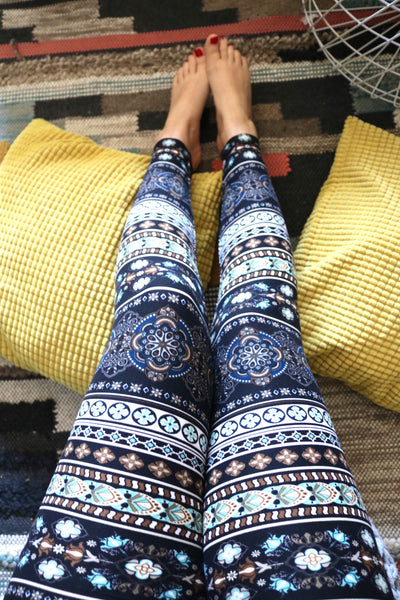 Boho Print QUEEN SIZE Leggings