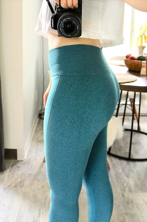 blue seamless active sports buttery Soft Microfiber High Waist Fashion Patterned Celebrity Leggings for Women one size