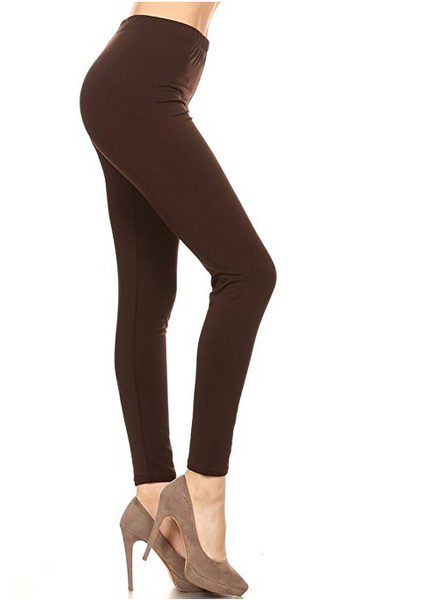 Solid Color FLEECE Winter Leggings (One Size)