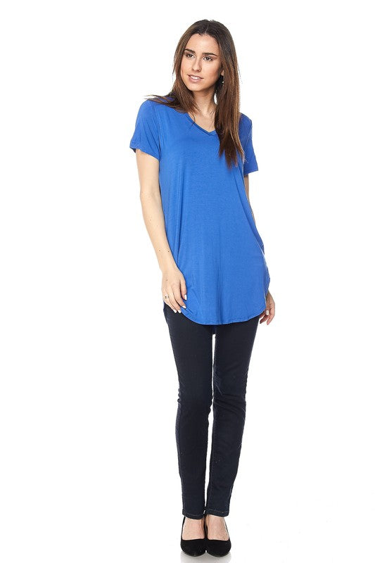Cobalt Blue Solid Modal Classic Tunic Top