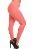 Solid Color Queen Size Basic Leggings