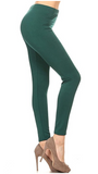 Solid Color FLEECE Lined Sweater Basic Leggings (S/M, L/XL)