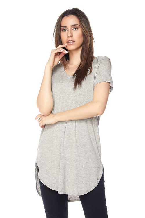 Heather Gray Modal Classic Tunic Top