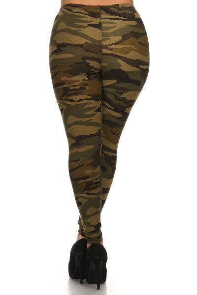 Army Print Queen Size Leggings