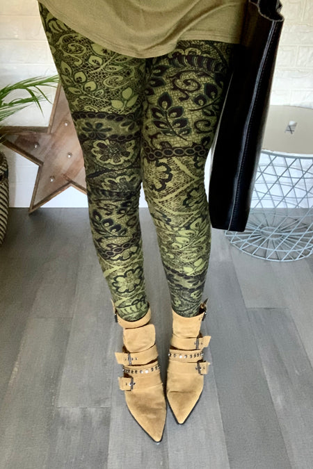 Tropical Flower Print Leggings