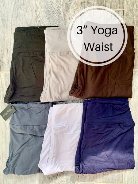 Solid Color Yoga Waist QUEEN SIZE Basic Leggings