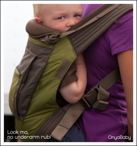Close up of baby in Onya Baby Carrier