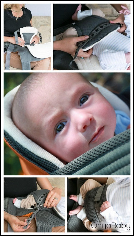 The Onya Baby Booster innovative new baby carrier infant insert