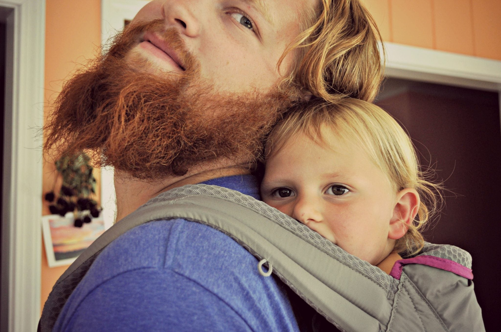 Dad with baby in Onya carrier