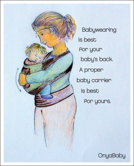buy the best wrap, sling, soft-structured baby carrier for your baby's back